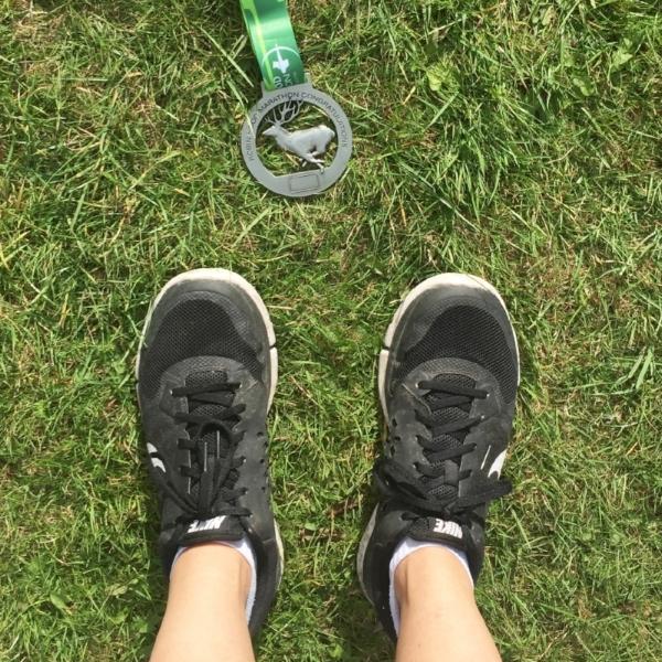 Completing the Robin Hood Marathon 2016 was a HUGE achievement.