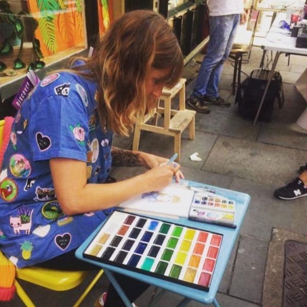Live Portraits at Handmade Nottingham, July 2017.