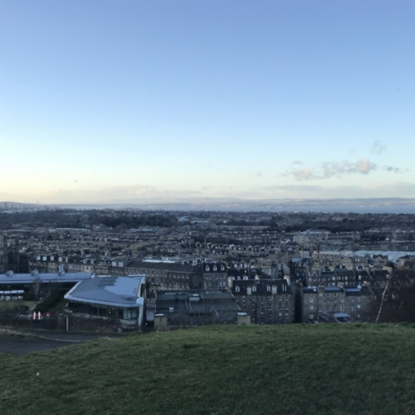 Views over the city from Calton Hill.