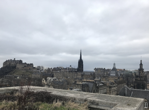 Rooftop view from the National Museum of Scotland.
