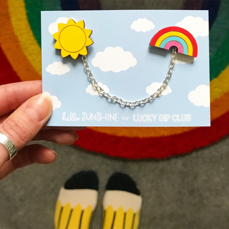 """""""You can't have rainbows without the rain""""🌈☀️ Collar clip & pin sets, created exclusively for  @luckydipclub FriYAY Surprise."""