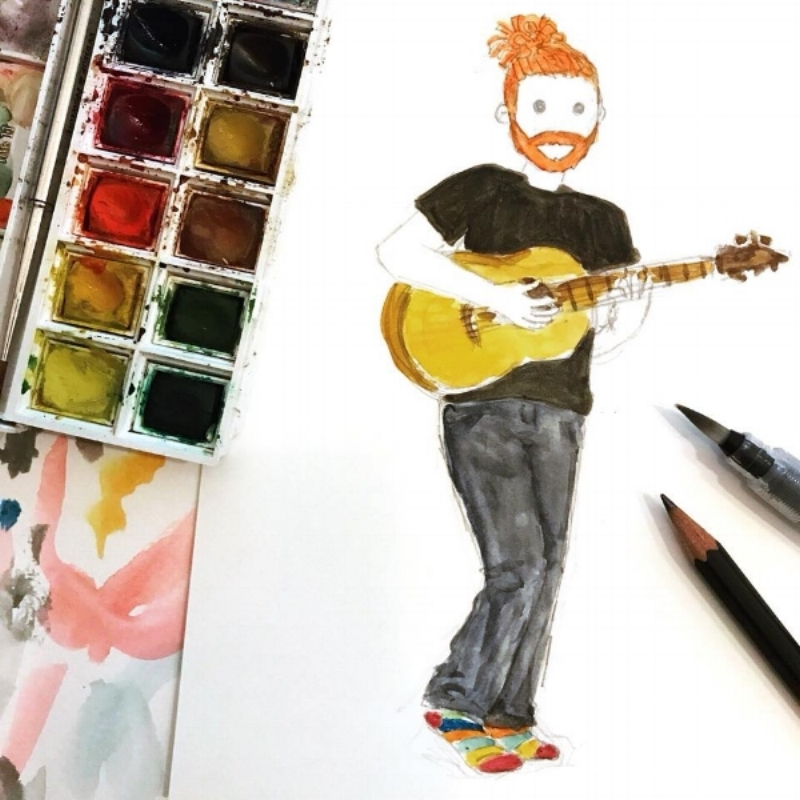 Gutted I missed the show but had fun doodling  @newtonfaulkner again instead 🎨