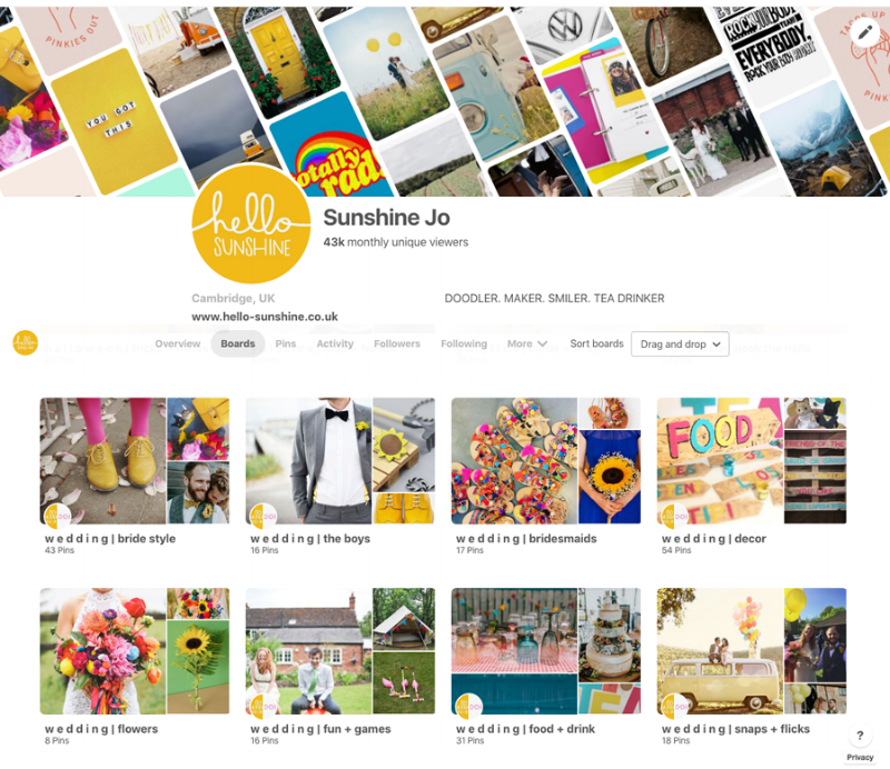 Unleashed the wedding boards over on  Sunshine_Jo Pinterest