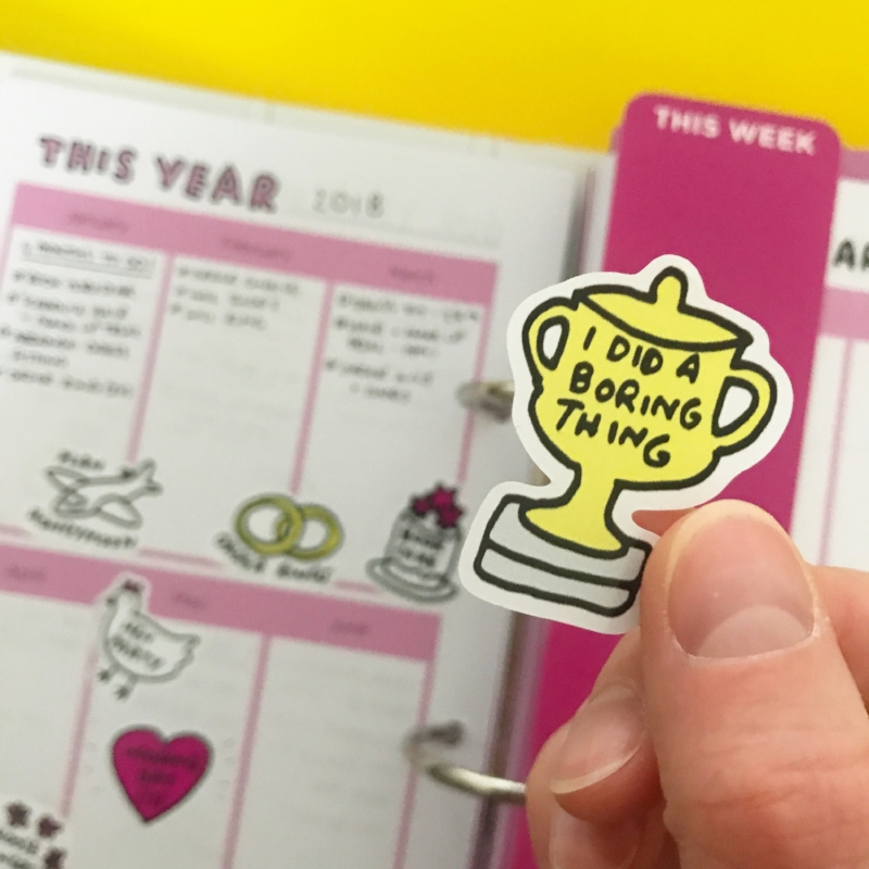 Rewarding myself with stickers to help with the planning pain! BEST. PLANNER. EVER!  BUY IT!