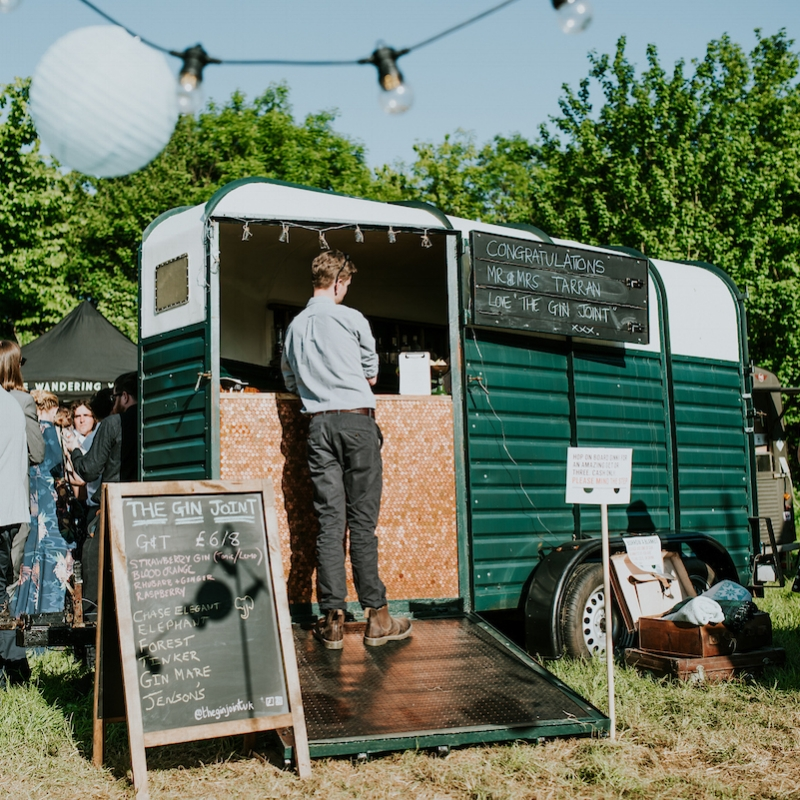 Ginny, the wonderful  Gin Joint  horsebox bar, ran by the lovely Carly Timmins.