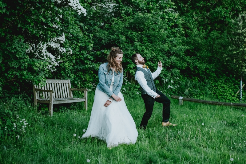 Had to make sure we could still bust some moves in our wedding get-ups!  📷  Daniel Ackerley Photography