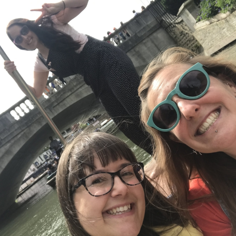 Punting with some of the Cambridge Creatives Crew!