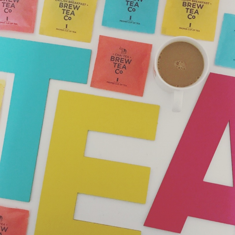 Really enjoyed painting these laser cut letters and playing with all the colourful teas!