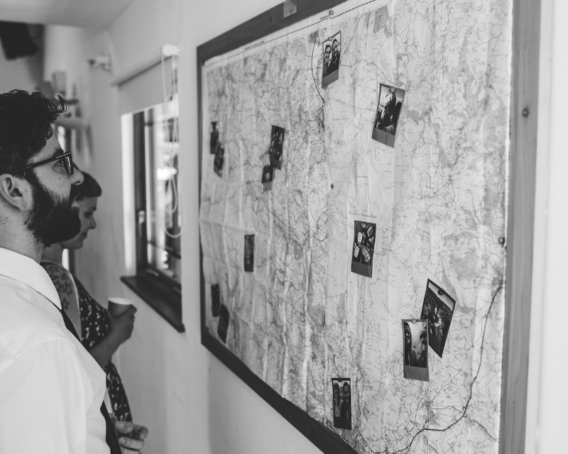 OS Maps and  Cheerz  snaps made the perfect cover-up for the village notice boards  📷  Daniel Ackerley Photography