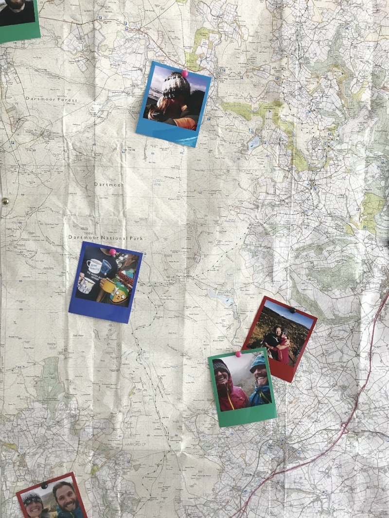 OS Map of one of our first camping trip locations, Dartmoor