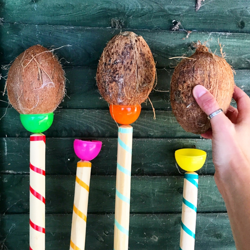 Finishing touches... the coconuts!