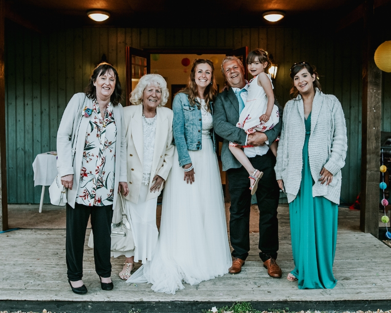 My whole family walked 'down the aisle' with me - MY SQUAD GOALS!  📷  Daniel Ackerley Photography