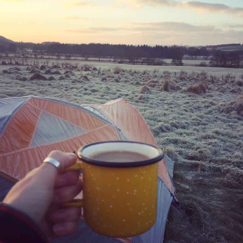 Crazy? Us?For camping in winter? Not with morning brew views like this!