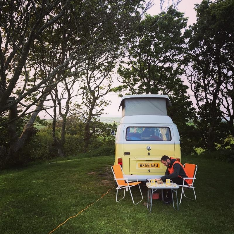 BBQ set up at Coastal Stay, Noddfa Farm.