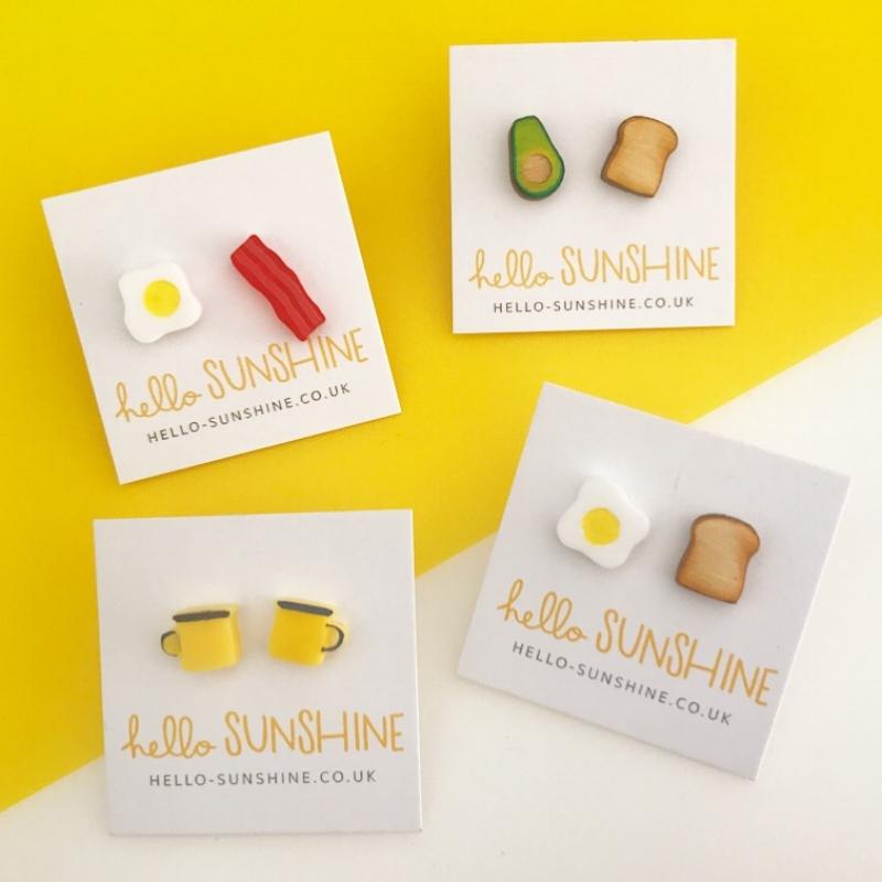 Laser cut earrings, based on my favourite foods :  hello-sunshine.co.uk/shop