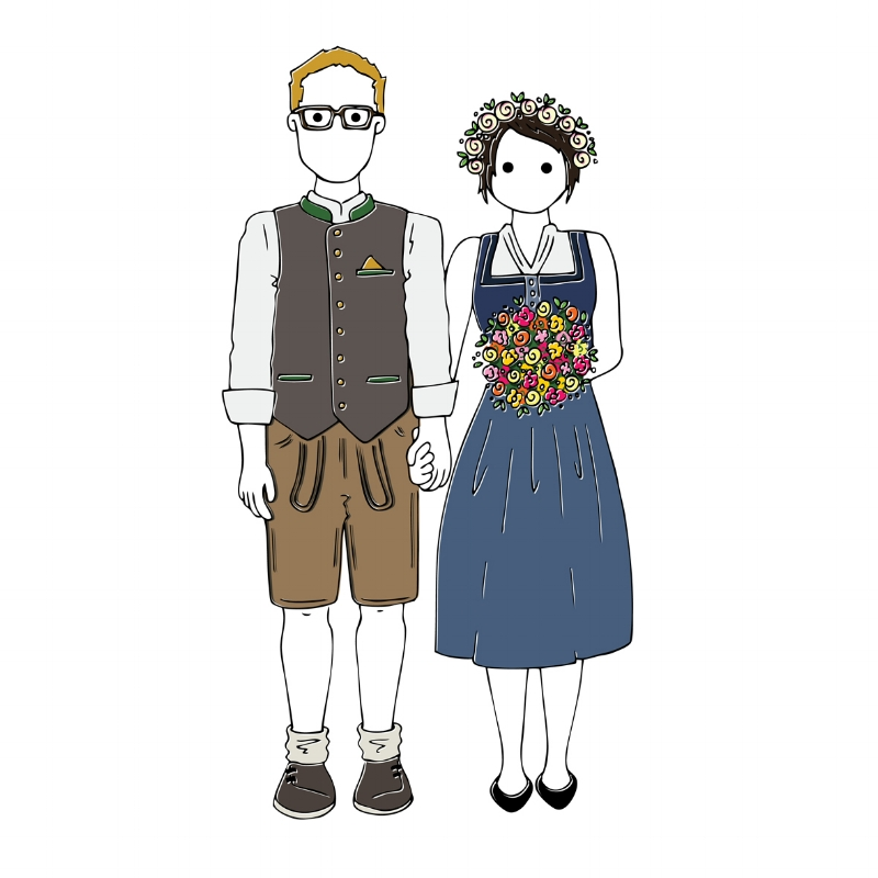 Obviously had to create a  Sunshine Portrait  of the happy couple in their traditional Bavarian attire!