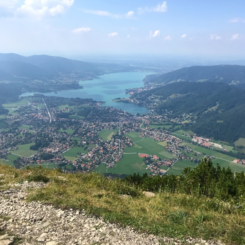 View over Tegernsee from the top of the Wallbergbahn 👌🏻