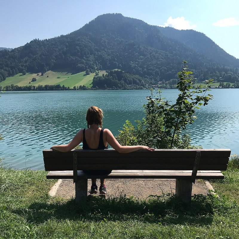 Taking in the views at  Schliersee  ❤️