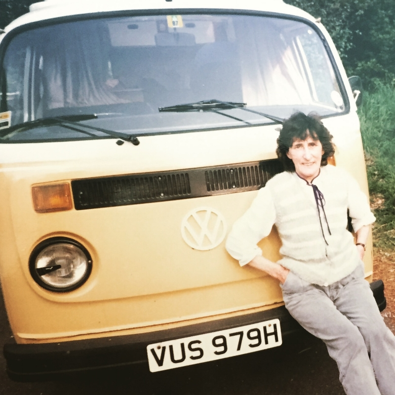 Nanna with the beautiful Campervan her and my Grandad owned 💛