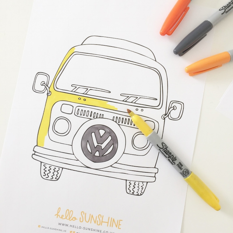 Colour Me Campers  : 20 x downloadable colouring pages