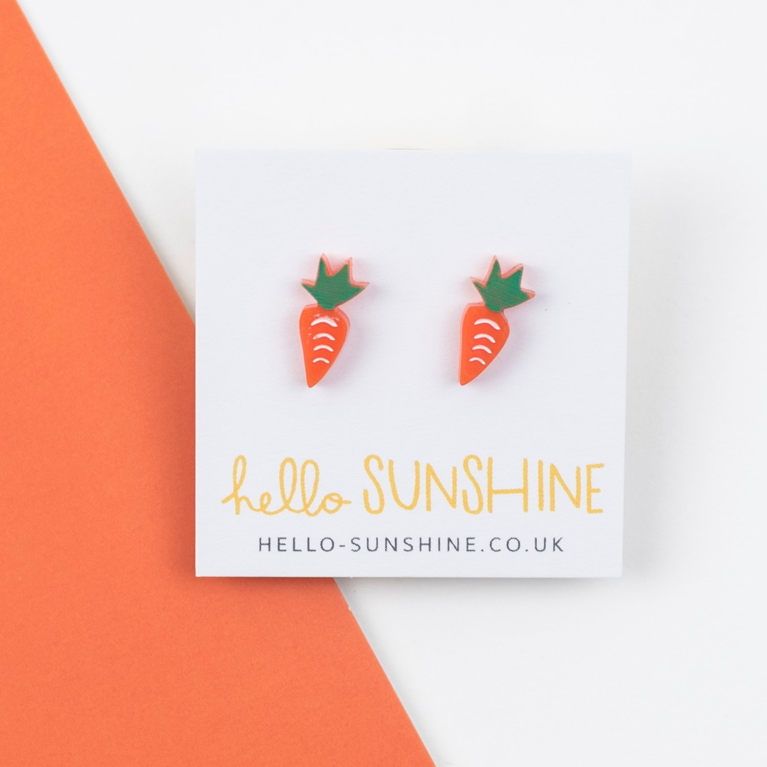 Teeny tiny carrots for your ear lobes!