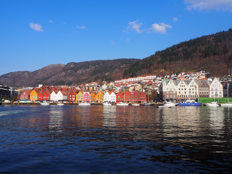 Looking over to Bryggen from the other side of Bergen Harbour