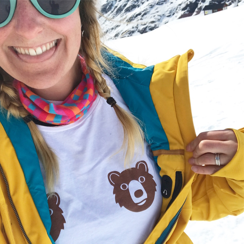 Flashing my Bear Tits tee for  @hellohelloDODO  at the top of a mountain! Brrrr!