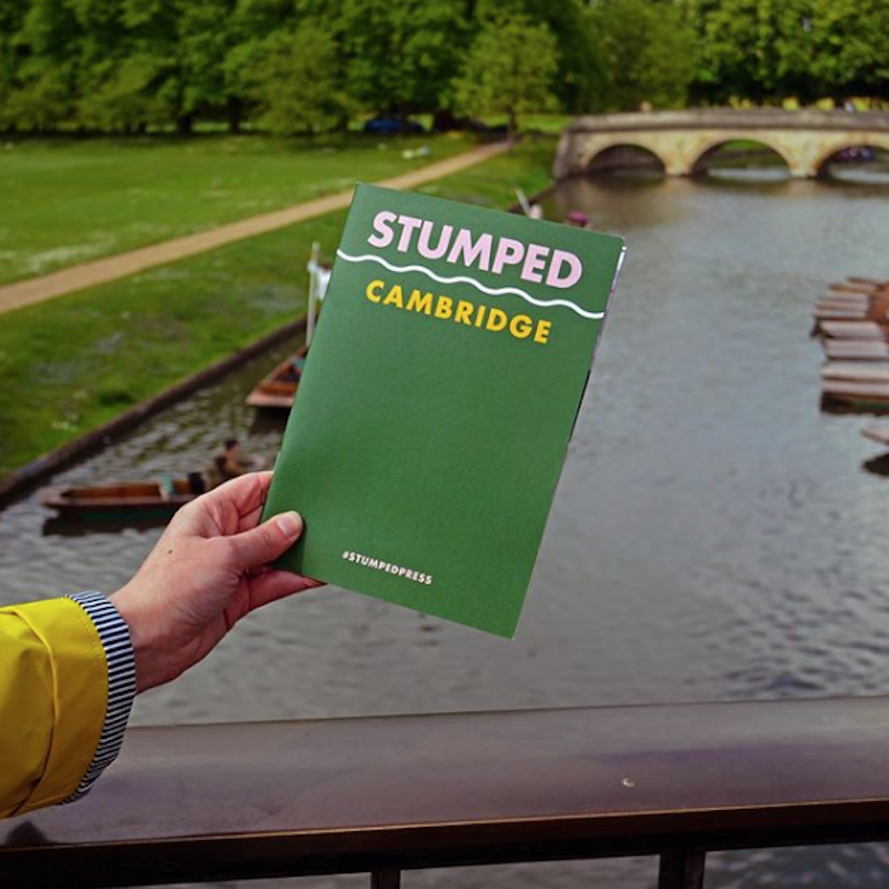 @stumpedpress  We launched our first printed goodness this weekend. 🗺 A travel guide for the beautiful city of Cambridge, it's jam packed with useful information on what to do on your next visit, chats with the locals and even has a map for you to follow while walking around to make sure you find all the best bits. 👍