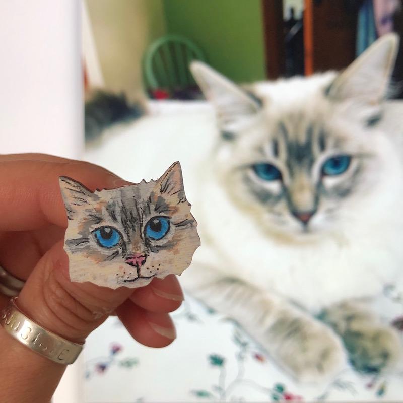 hello sunshine custom cat pin.jpg