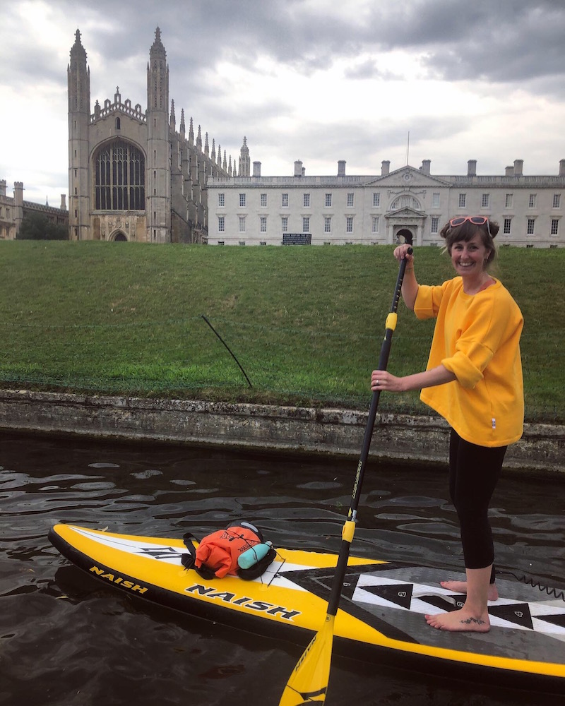 The paddling potato does Cambridge!