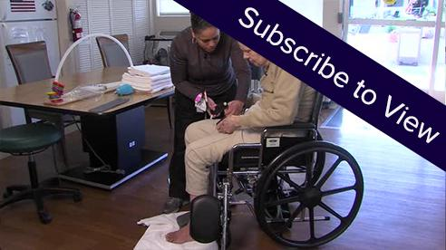 Dementia Part 3: Donning Socks ( click here for sample videos )