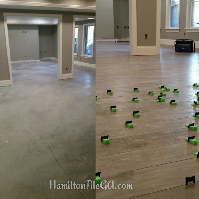 Extremely clean to start and a perfectly flat floor with the help of the Lev-Tech leveling system.