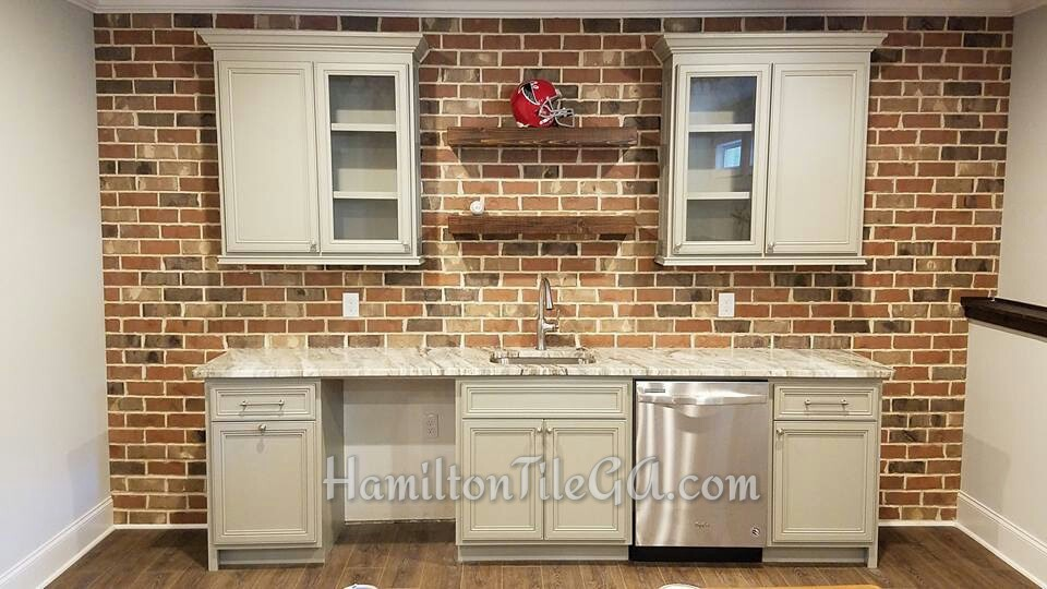 These brick walls are all the rage and add an incredible visual touch to your indoor space. We are ready to put one in for you!