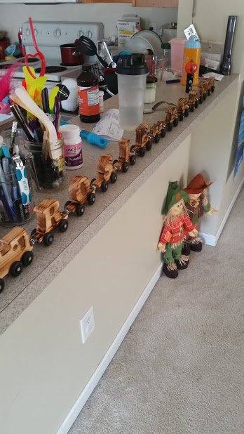 Look at this incredible train set Bob made me! Homemade gifts are the best. Especially from a talented person!