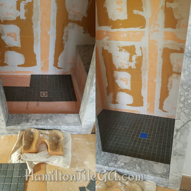 "Ask your potential tile installer, ""Will you be on site to supervise the granite or stone delivery/installation?"" We will be to ensure a high standard finish! Ten details added up make for a smooth bathroom remodel experience and we have them covered.    Click here to read my popular blog post called ""Options for finishing your shower curb"""