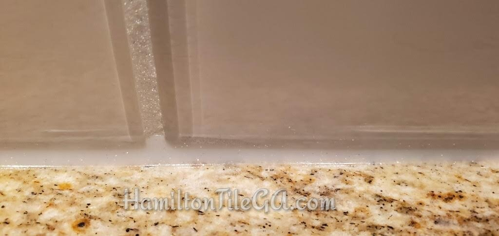 Hiring detail oriented, specialists: It means you have access to and guidance on products and services that you wouldn't have if you hired non-credentialed, hobbyists. Fine details like Flexcolor 3D glitter grout and matching silicone! Unbelievable looking with glass tile.