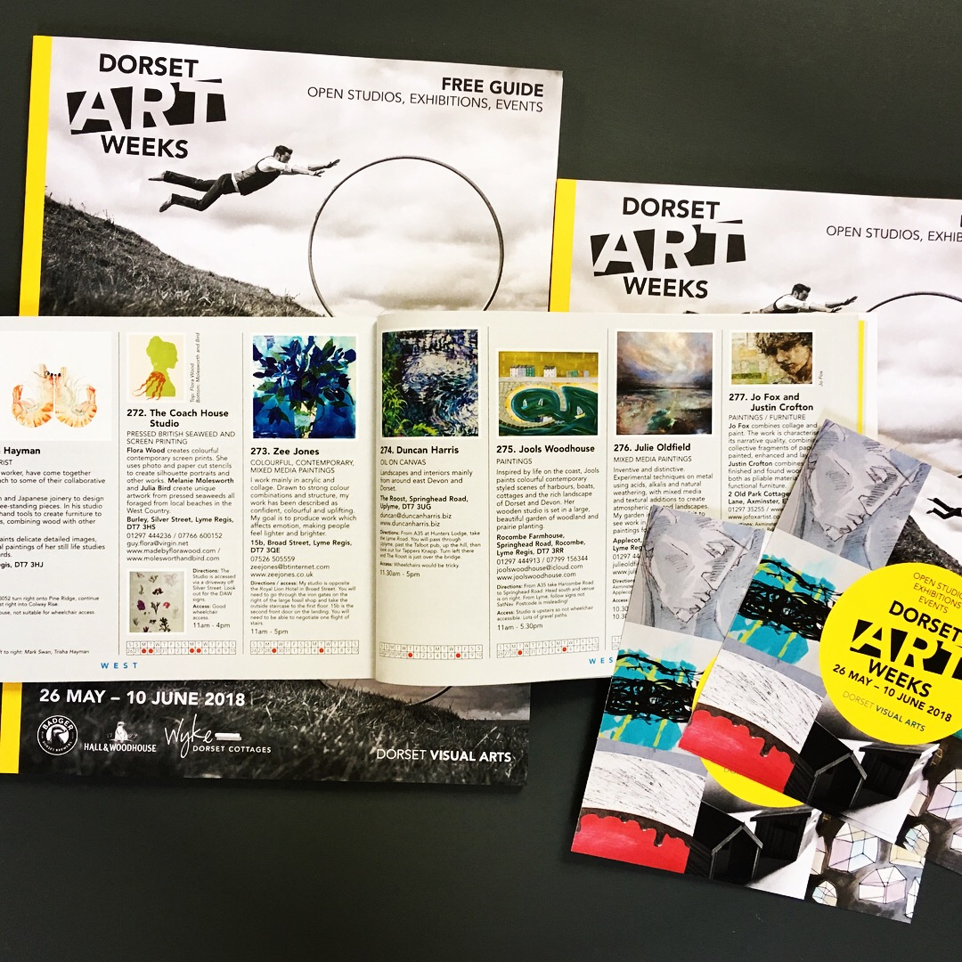 A peek inside the brochures- I am in the West Dorset section and Venue 275.