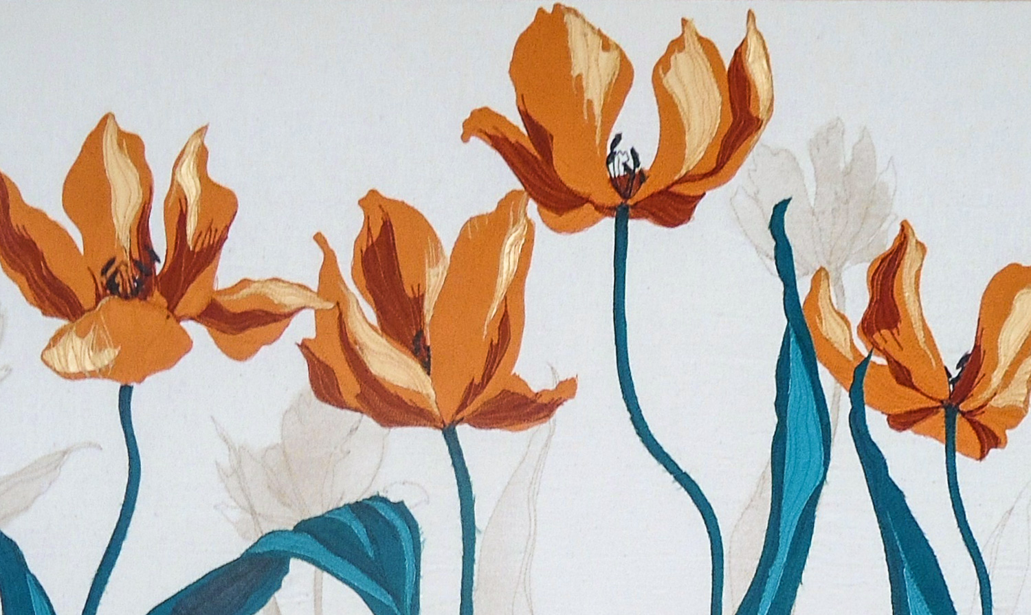 Orange Tulips | Helen Poremba Textile Art & Sewing Workshops
