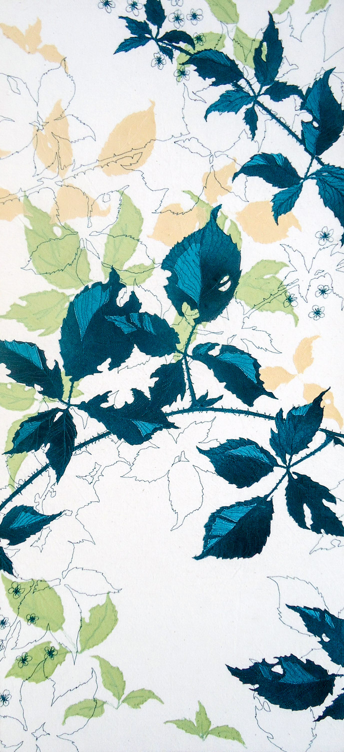 Green Brambles | Helen Poremba Textile Art & Sewing Workshops