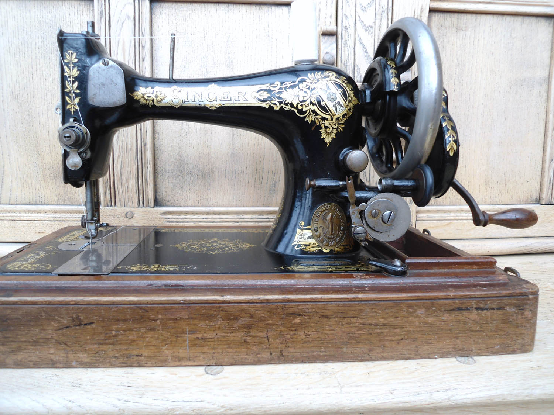Singer 28 k. Hand cranked sewing machine from Helen Poremba's studio