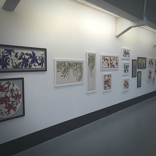 "My work, now expertly hung by the team at Newcastle Art Centre. This joint exhibition of my textile work alongside Jane Murray's paintings will open at 2pm on Friday afternoon. It will then run until 3rd August. ""Meet the Artists"" 2pm to 4pm. Newcastle Art Centre, Westgate Road. #newcastleartcentre #artexhibition #meettheartists"