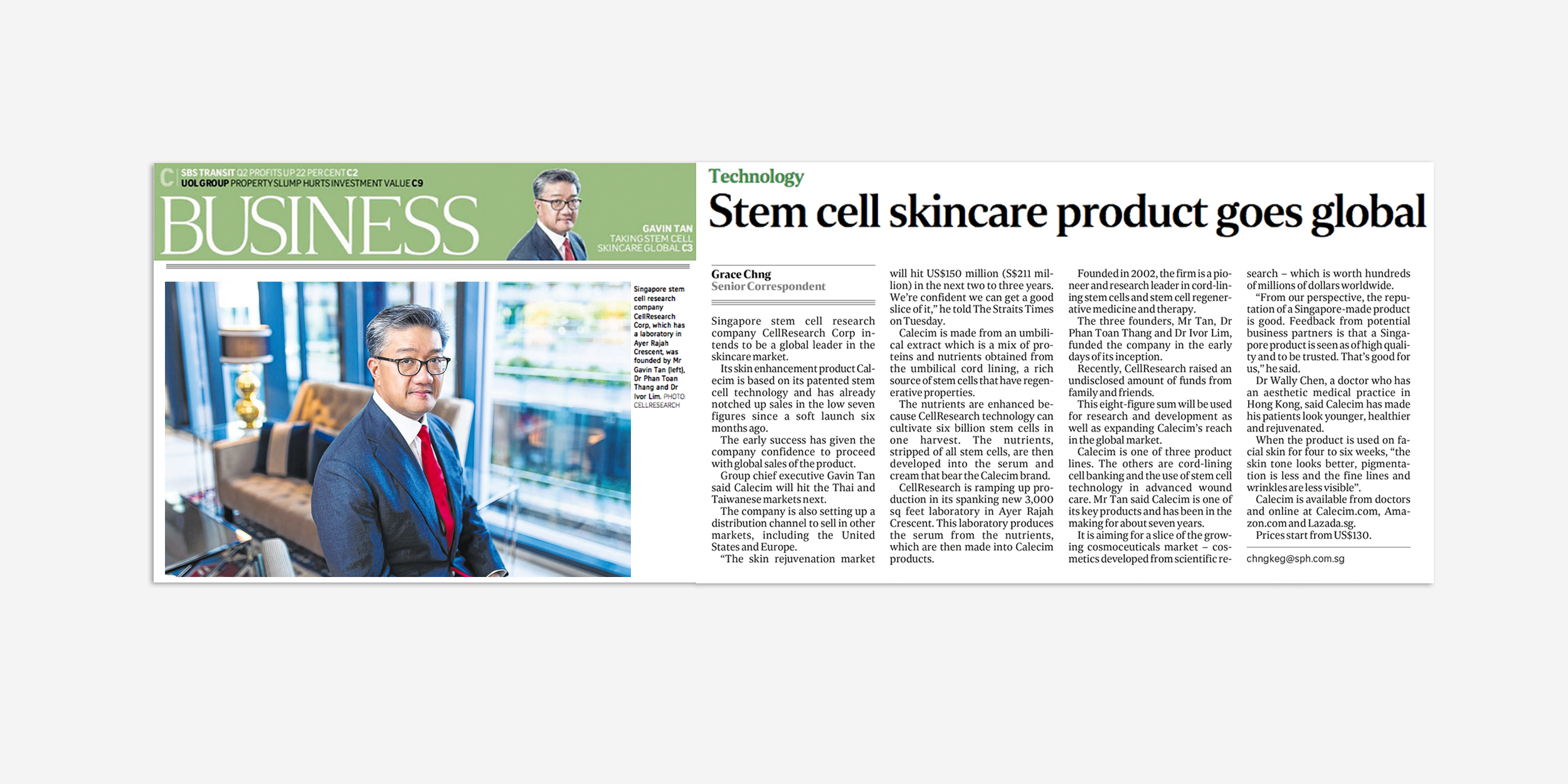 Stem cell skincare goes global