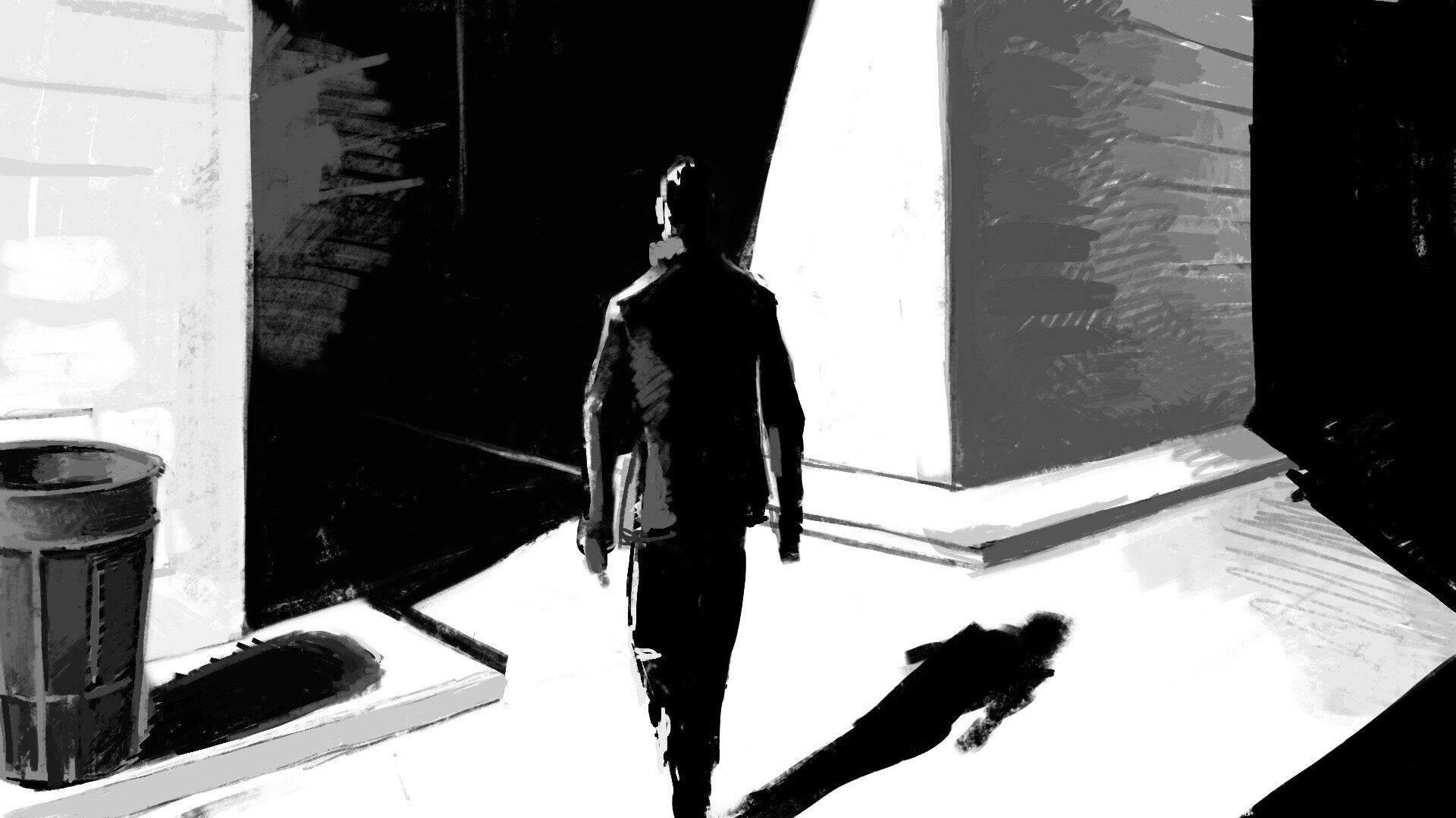 walking into the dark