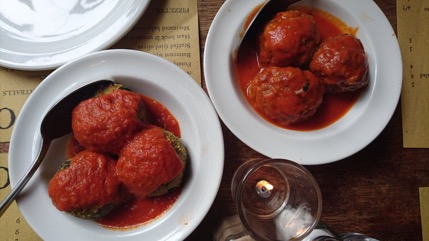 These lamb meatballs at  Polpo  on Shaftesbury Avenue were divine!