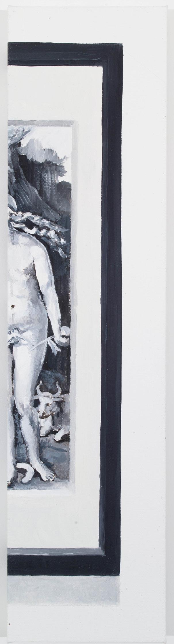 CYNTHIA DAIGNAULT  (1978), This is the end, and beautiful friend, 2012, óleo sobre tela, 60.9 x 15.24, cortesía de la artista y de Lisa Cooley, Nueva York
