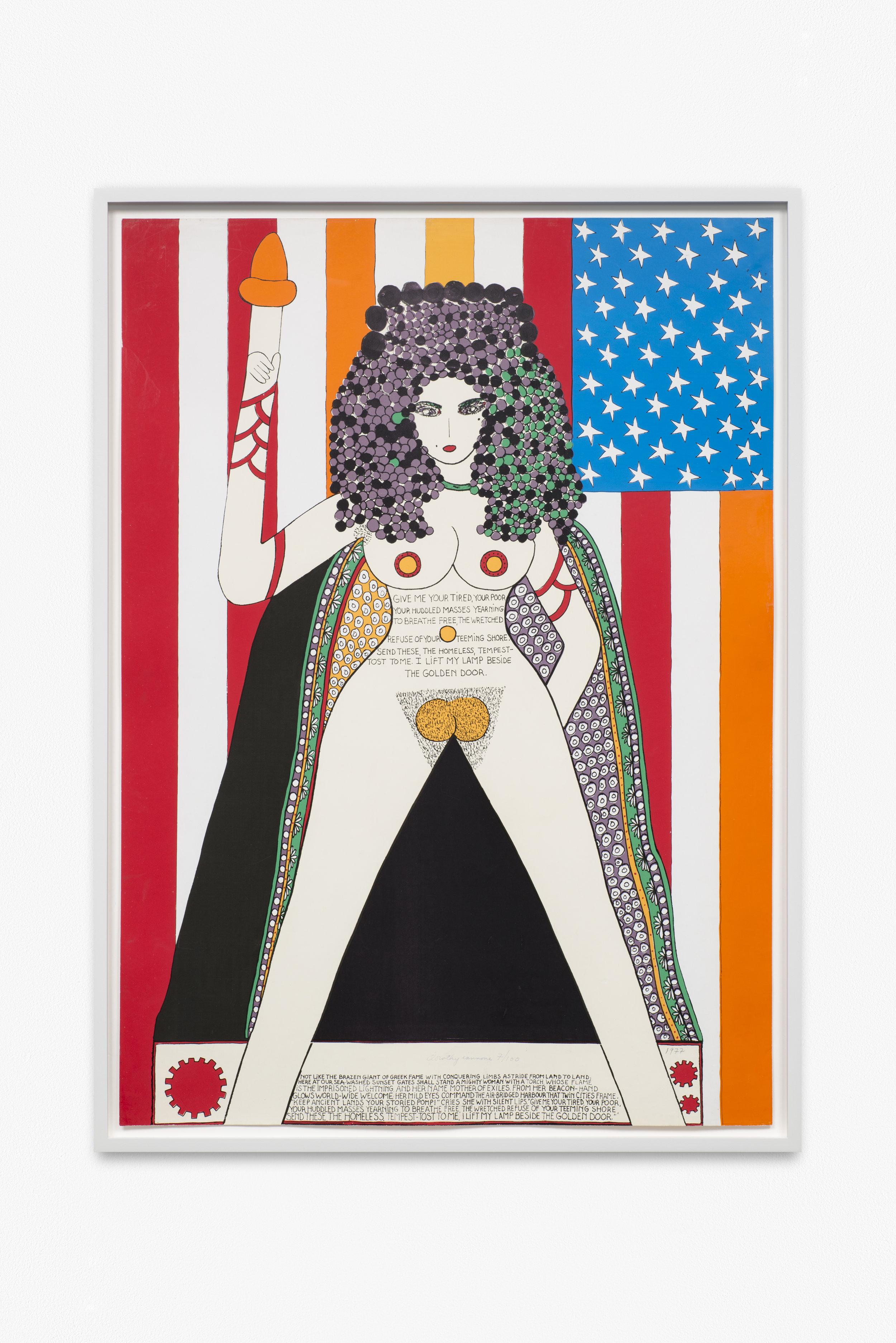 DOROTHY IANNONE  (1933)  The Statue Of Liberty,  1977, serigrafía a color sobre papel, 83,5 x 60, cortesía Peres Projects, Berlín. Fotografía de Trevor Good.