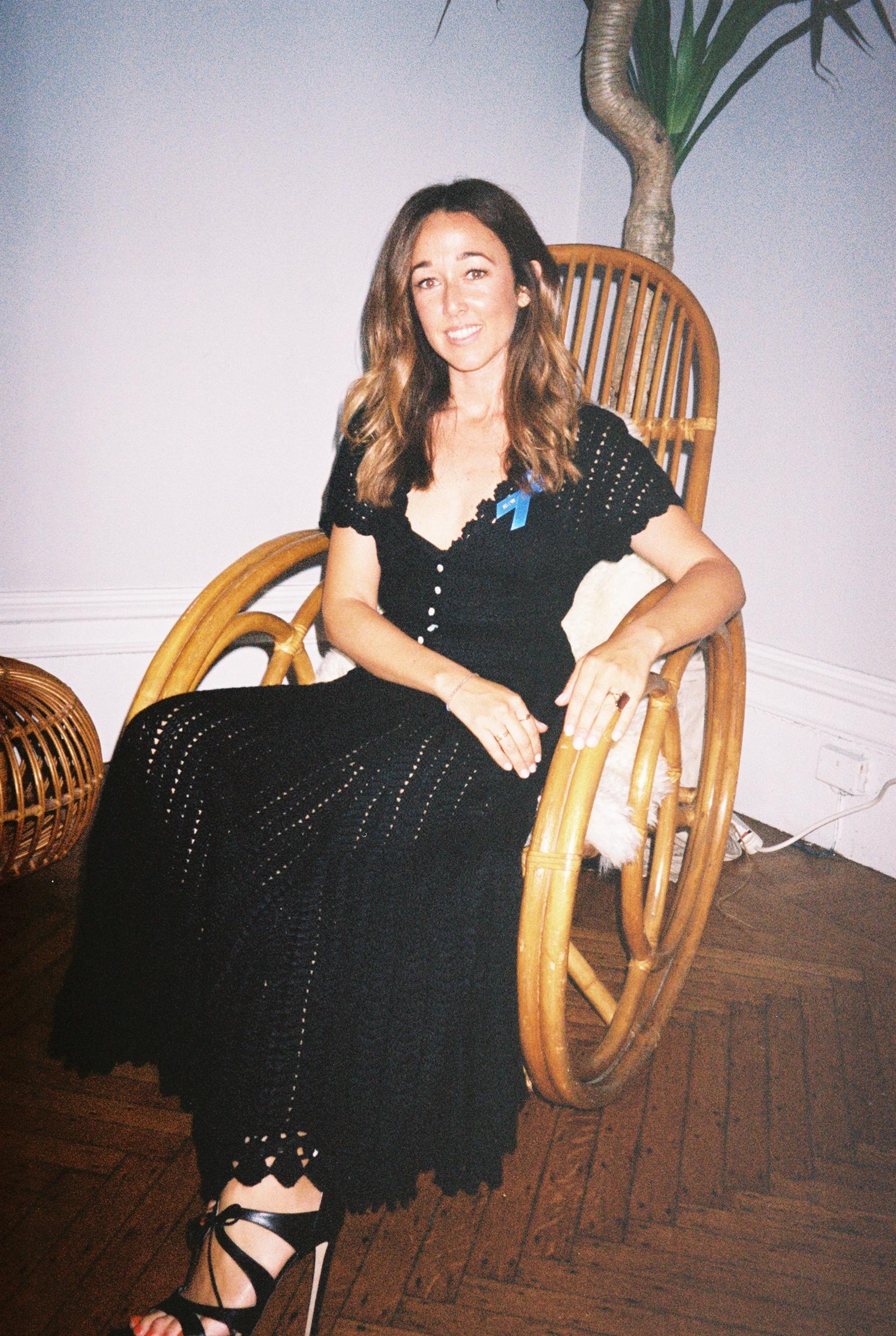 Alejandra Alonso Rojas durante la presentación de su colección  Spring-Summer 2018  en Nueva York.