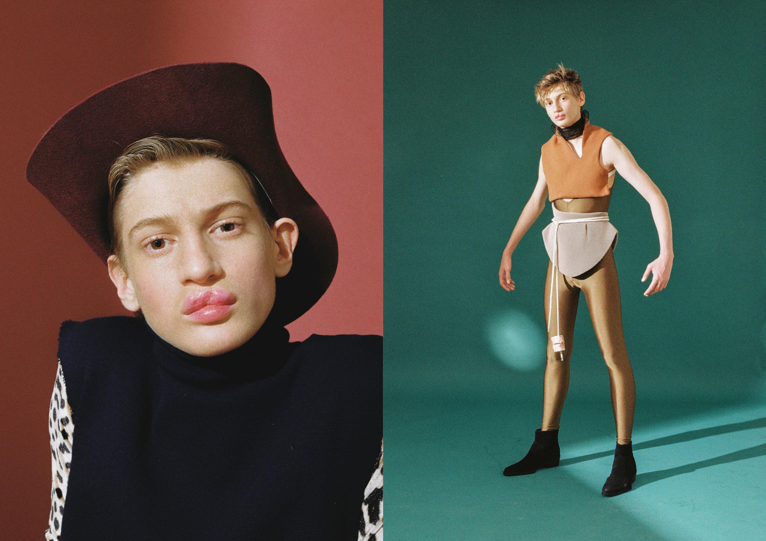 Izquierda: sombrero de  PARDO HATS , top de  CARLOTA BARRERA  y completo de  VERSACE .  Derecha: top y cintura de  CARLOTA BARRERA , pañuelo de  VALENTINO , faja de  VIOLETA ARELLANO , completo de  ROOM 89  y botas de  CALVIN KLEIN.