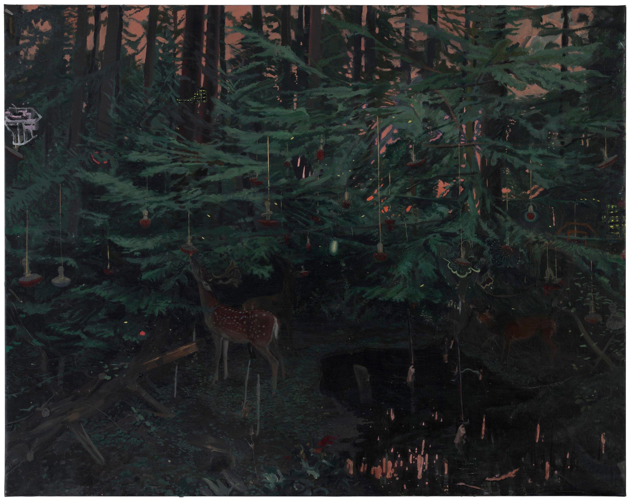 Claro del bosque . Oleo sobre lienzo.