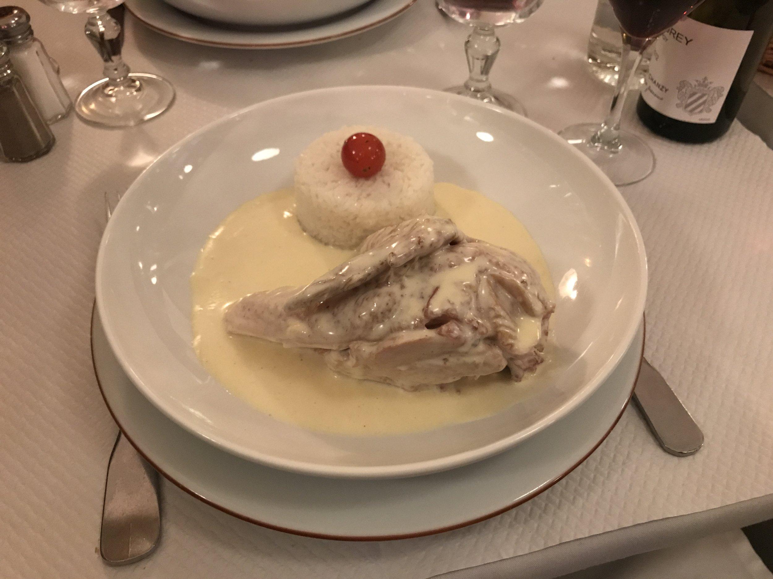 Minha pedida do La Poule au Pot. Foto: Mandolina Blog.